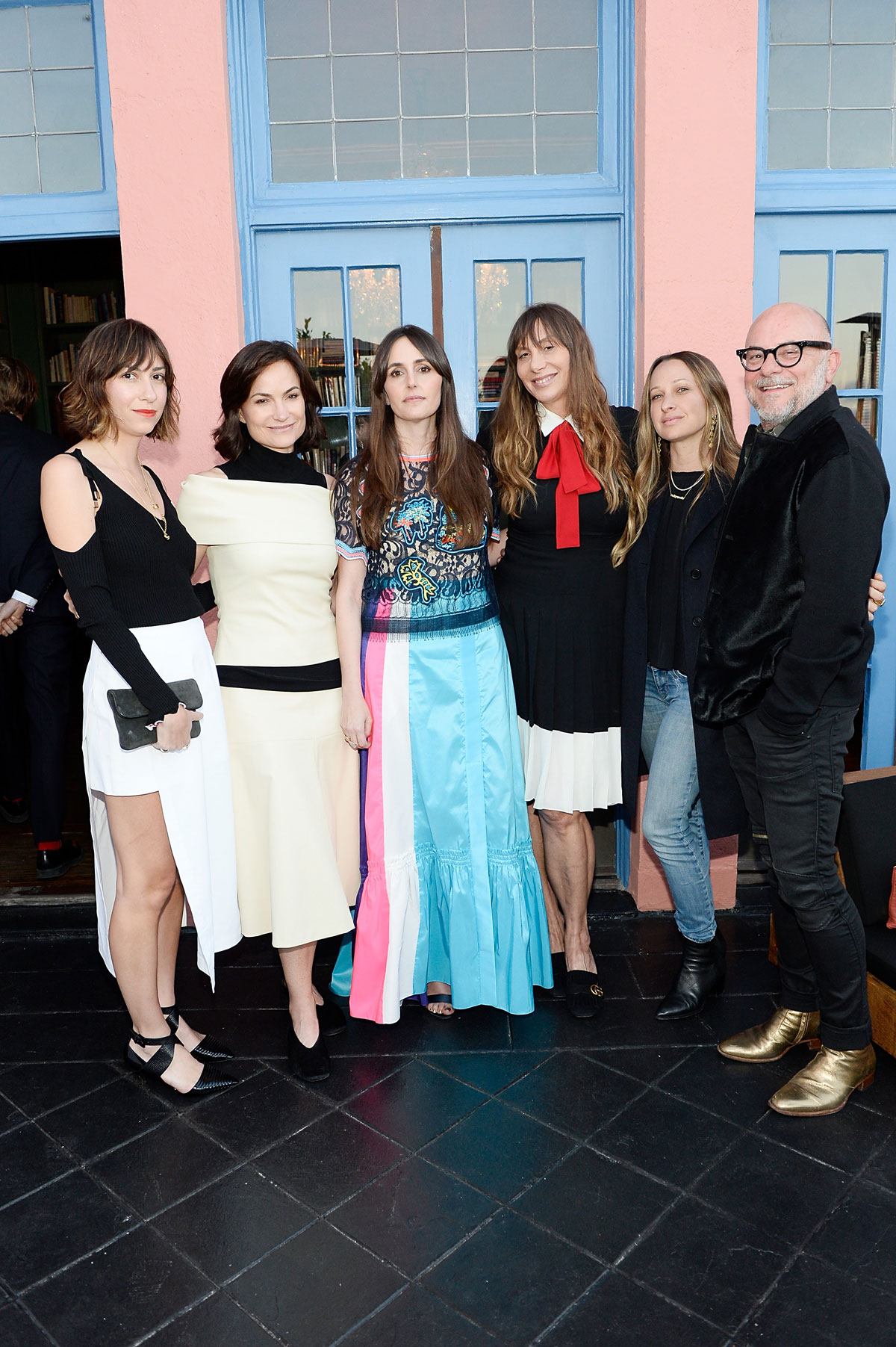 Gia Coppola; Rossetta Getty; Tania Fares, Jacqui Getty, Jennifer Meyer and Eric Buterbaugh celebrate the launch of London Uprising Fifty Fashion Designers One City on April 18, 2017 in Los Angeles, California. (Photo by Stefanie Keenan/Getty Images for Tania Fares)