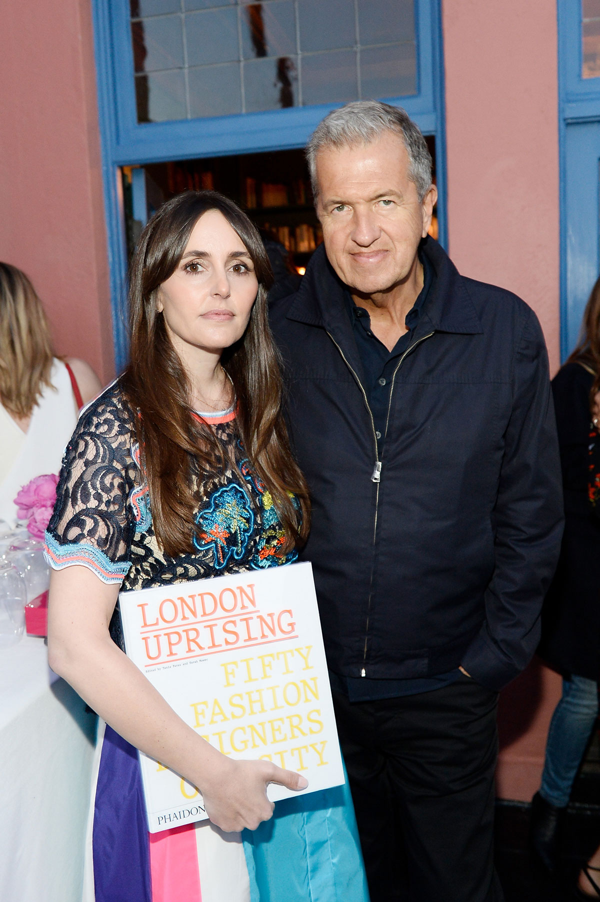 Tania Fares and Mario Testino celebrate the launch of London Uprising: Fifty Fashion Designers One City on April 18, 2017 in Los Angeles, California. (Photo by Stefanie Keenan/Getty Images for Tania Fares)