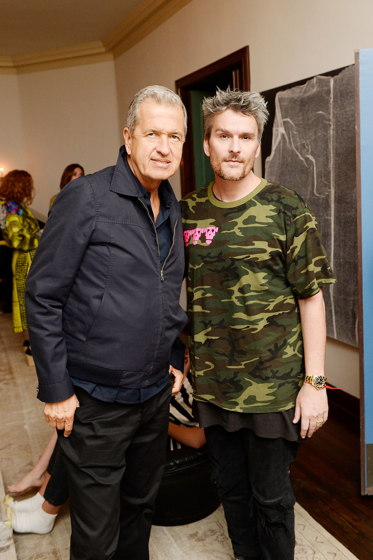 Mario Testino and Balthazar Getty celebrate the launch of London Uprising Fifty Fashion Designers One City on April 18, 2017 in Los Angeles, California. (Photo by Stefanie Keenan/Getty Images for Tania Fares)