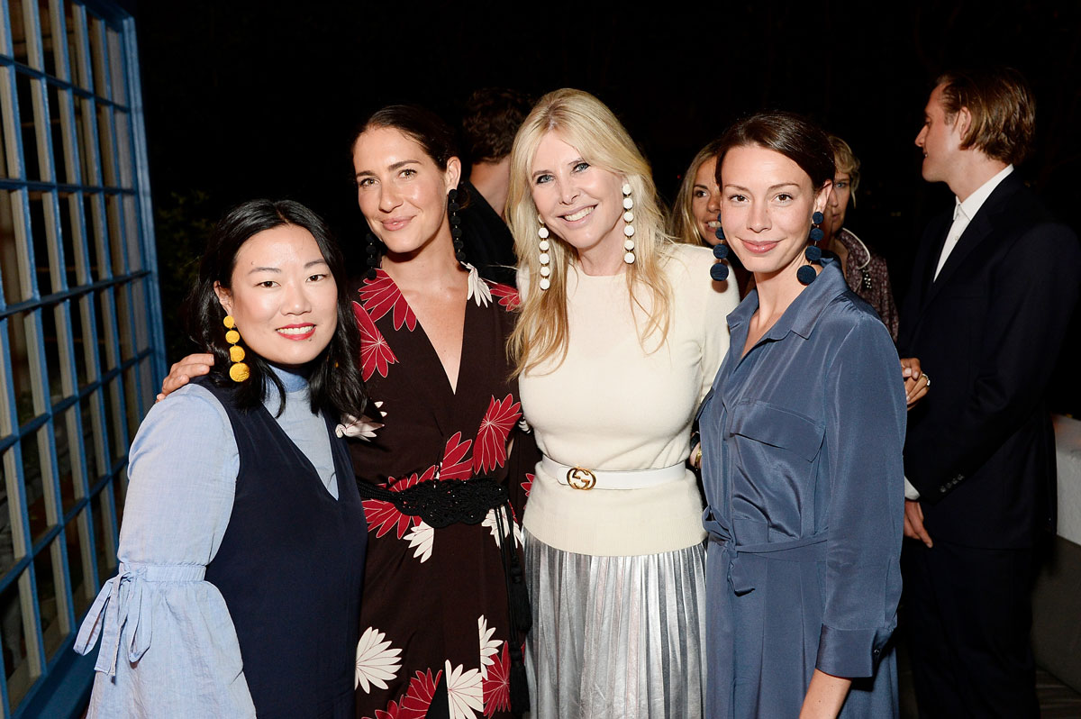 Donna Chu; Rebecca de Ravenel; Irena Medavoy and Courtney Treut celebrate the launch of London Uprising Fifty Fashion Designers One City on April 18, 2017 in Los Angeles, California. (Photo by Stefanie Keenan/Getty Images for Tania Fares)