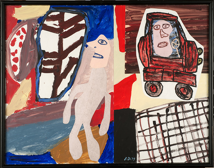 Site avec auto, November 12, 1979, by Jean Dubuffet. All images © ADAGP, Paris and DACS, London 2017, courtesy of Pace Gallery, London, in relation to Jean Dubuffet: Theatres of memory, September 13 – October 21 2017