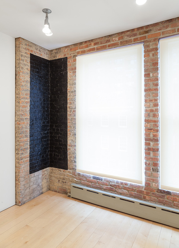 Andrea Longacre-White's Dark Corner (2015) in Six Doors, at the Other Room, New York