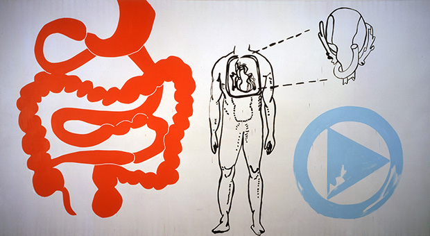 Andy Warhol, Physiological Diagram, 1985, The Andy Warhol Museum, Pittsburgh, © The Andy Warhol Foundation for the Visual Arts, Inc.
