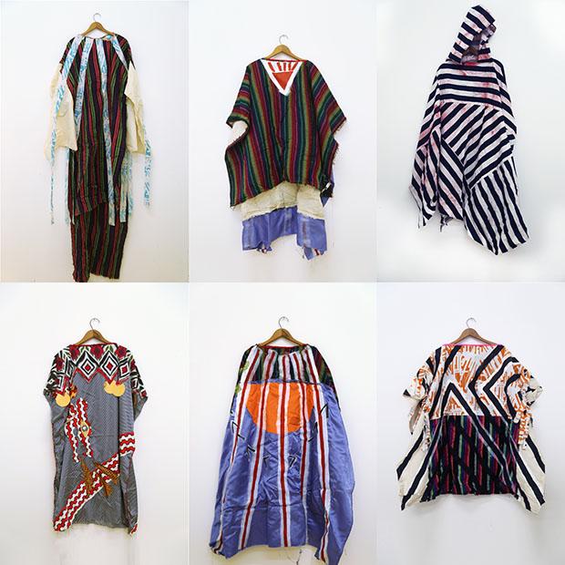 El Resplandor trajes, 2009-2011;  diversos tejidos;  Dimensiones variables;  cortesía del artista