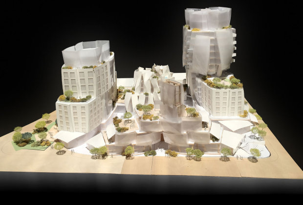 Frank Gehry's models for 8150 Sunset Boulevard