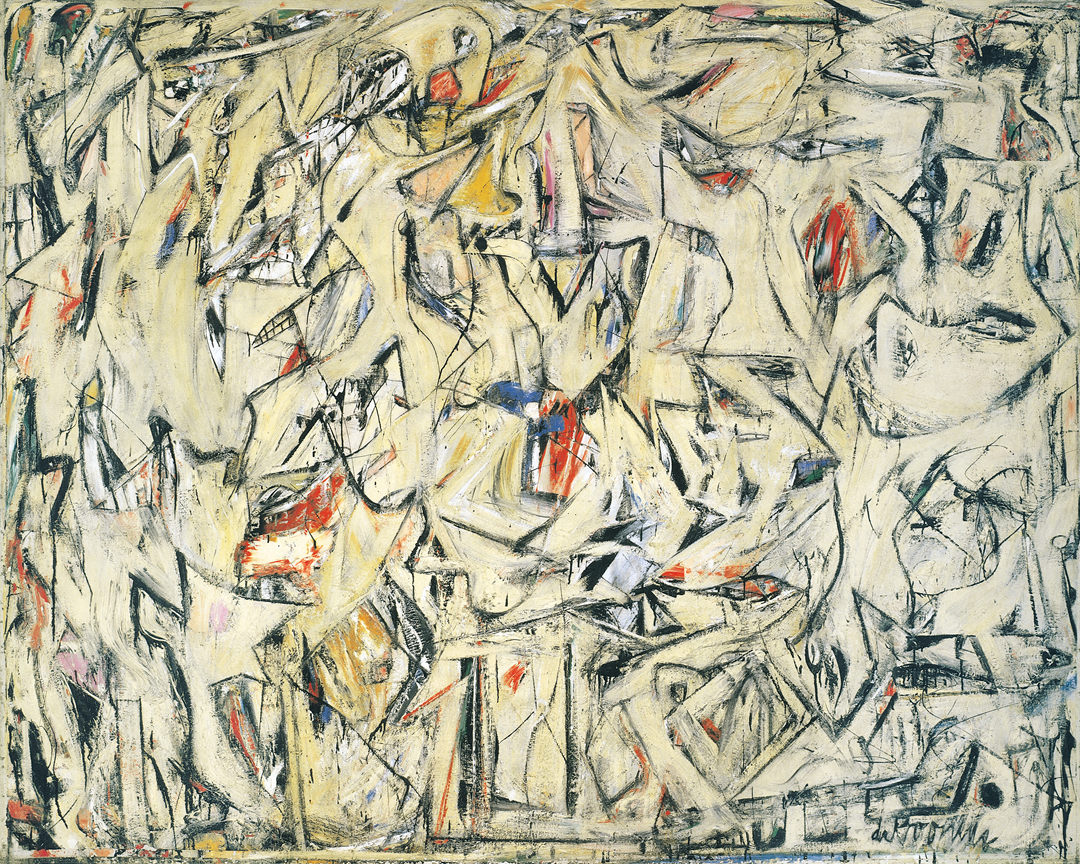 Excavation, 1950, by Willem de Kooning. Oil and enamel on canvas, The Art Institute of Chicago
