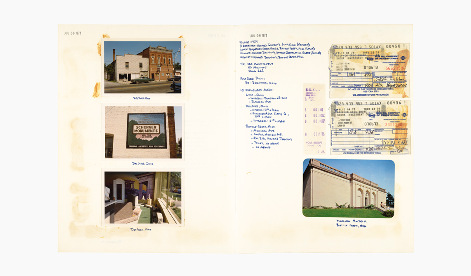 A spread from Stephen Shore: A Road Trip Journal