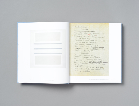 A spread from our Agnes Martin book