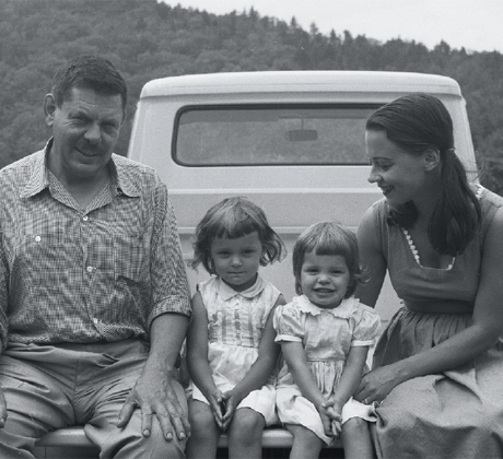 David Smith, wife Jean Freas and children, c. 1958