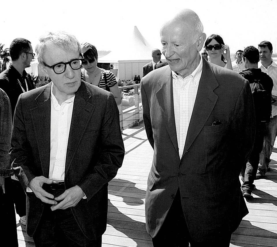 Gilles Jacob with Woody Allen