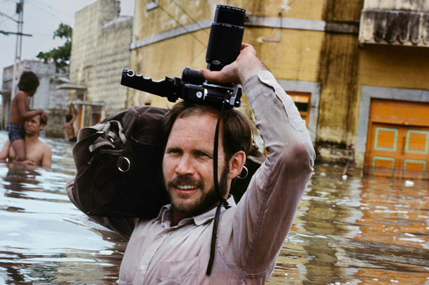 Steve McCurry in Monsoon floods, India, 1983