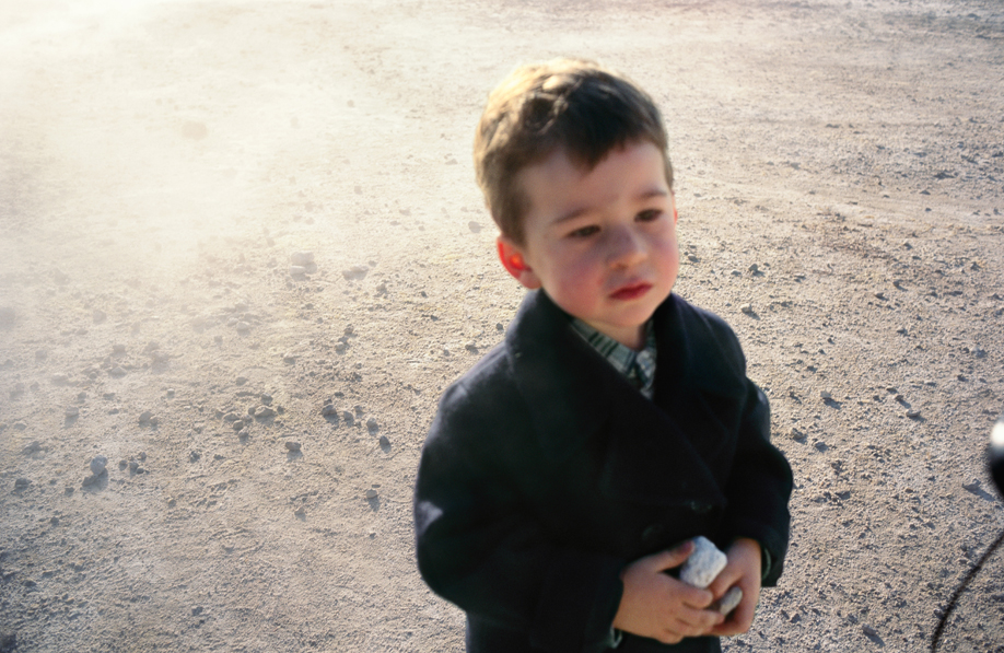 Bruno at the sulphur pits, Pozzoli, 1995, by Nan Goldin, from Eden and After