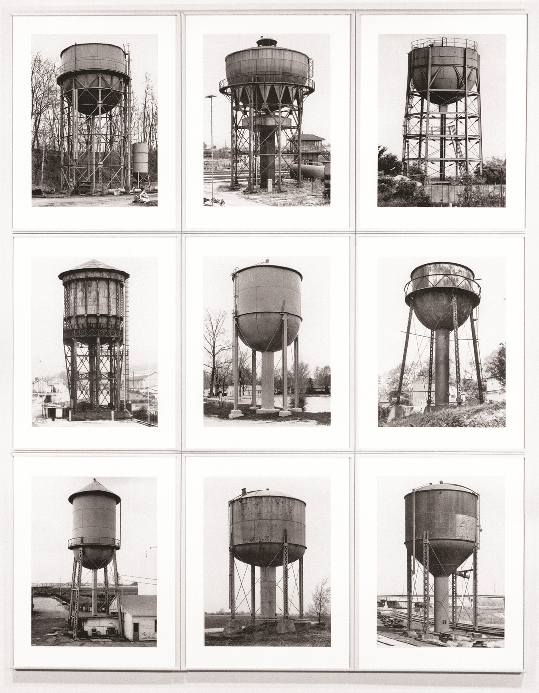Bernd and Hilla Becher, Water Towers, 1980, as reproduced in Art as Therapy