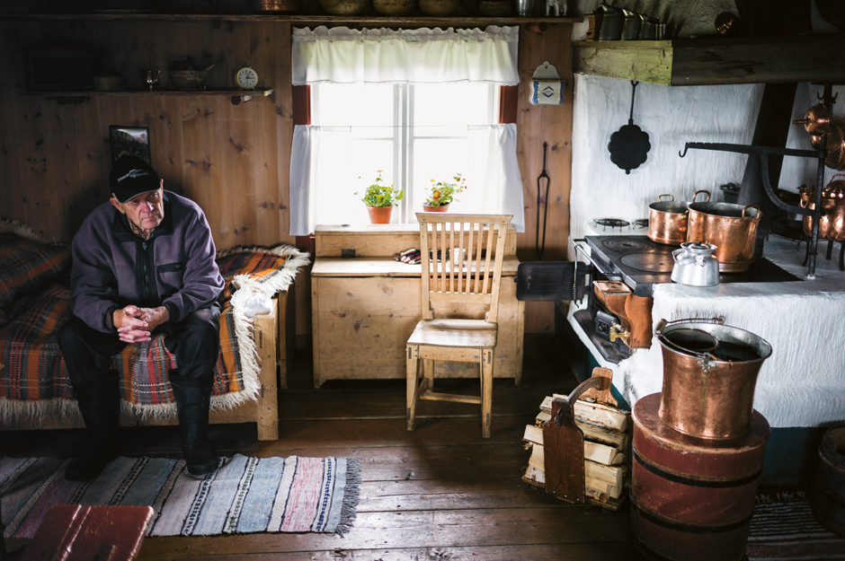 The interior of a northern Swedish mountain farm house, summer. From the Nordic Cookbook