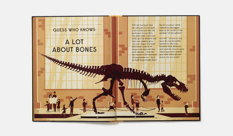 A spread from Book of Bones