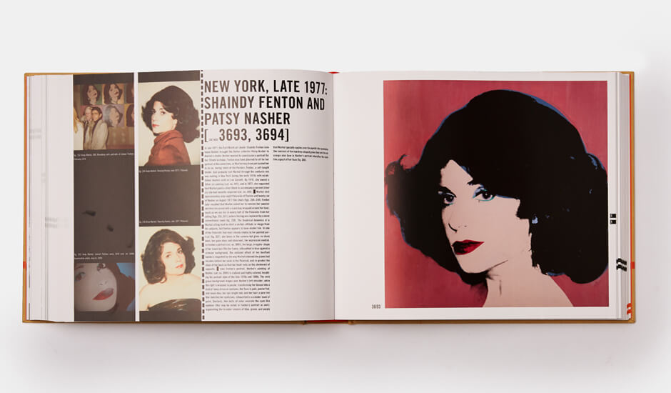 A spread from Andy Warhol Catalogue Raisonné Vol 5: 1976-1978