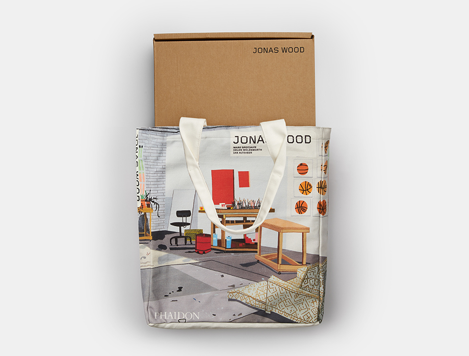 Jonas Wood Contemporary Artist Series monograph and tote bags