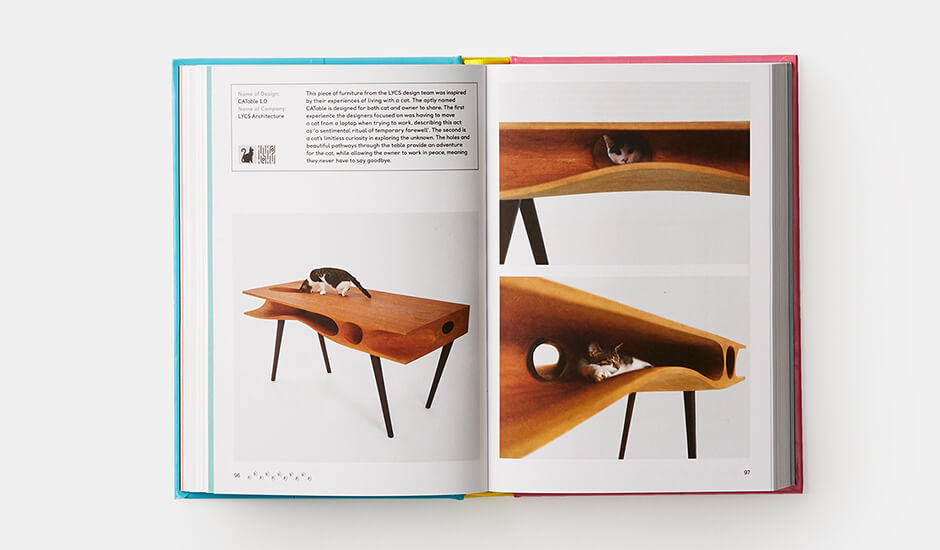 A spread from Pet-tecture: Design for Pets