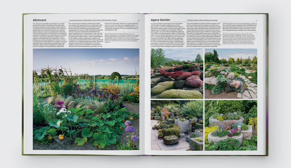 A spread from The Garden: Elements and Styles