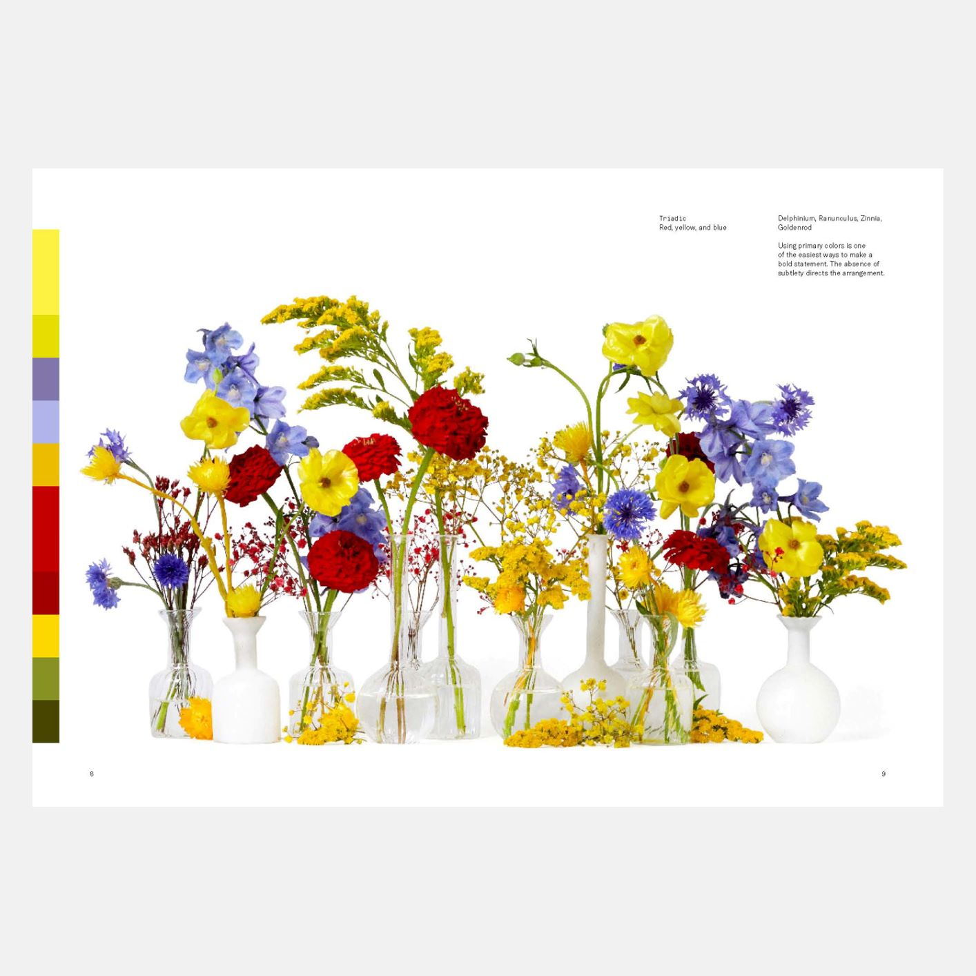 A spread from Flower Color Theory
