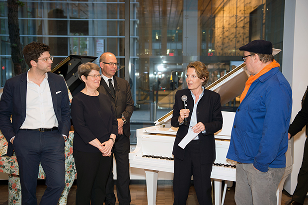 From left: book contributors Ian Volner, Lisa Green, Michael Bierut, Annabelle Selldorf and Todd Eberle