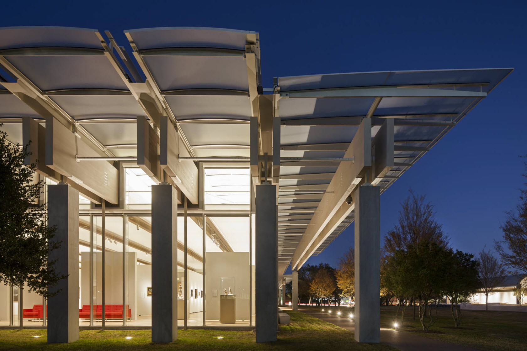 The Piano Pavilion at the Kimbell Art Museum, Texas