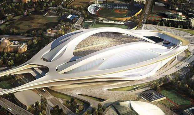 Architects protest Zaha Hadid's Olympic stadium