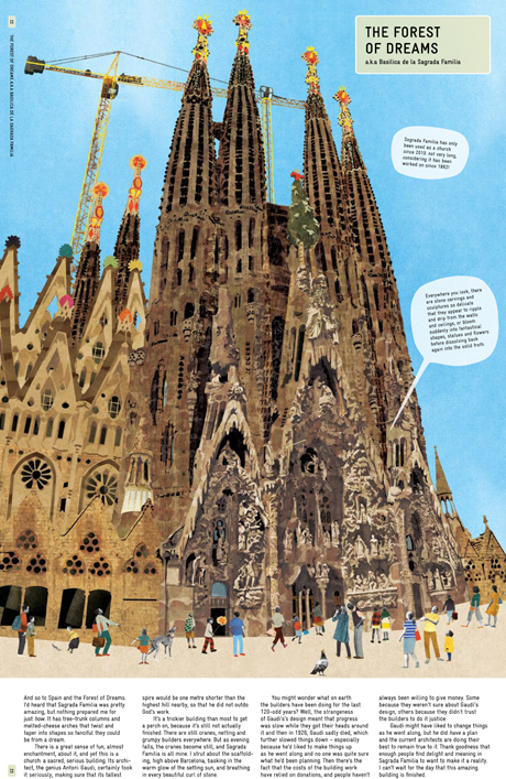 The  Sagrada Familia from Architecture According to Pigeons, by Natsko Seki