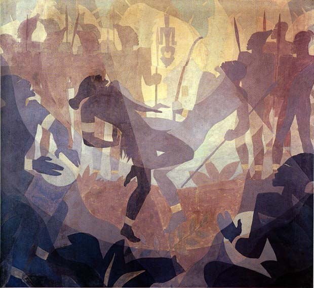 Negro in an African Setting (1934) by Aaron Douglas. From Art in Time