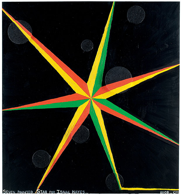 Seven pointed star for Isaac Hayes (2008) - Chris Martin