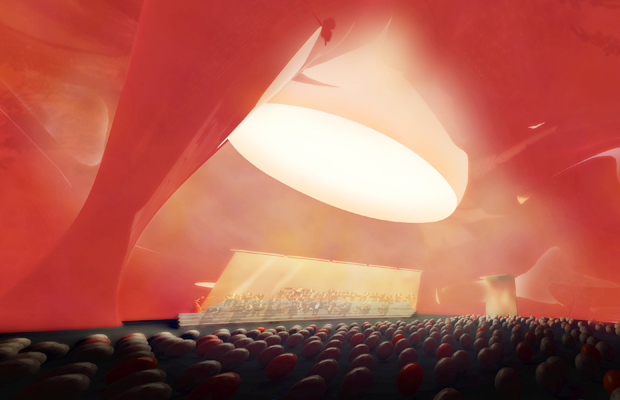 Arata isozaki and anish kapoor design giant inflatable for Inflatable concert hall