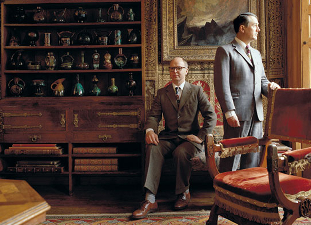 Gilbert & George at their home in Spitalfields, London (1987)