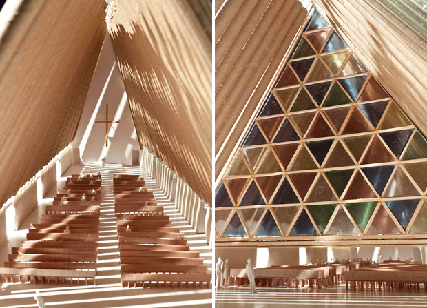 Shigeru Ban, Christchurch Cardboard Cathedral (2011), New Zealand
