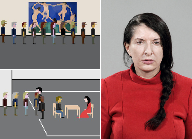 Libeskinds cement chair for marina abramovi design agenda the artist is present again artist turns marina abramovi moma experience into video game thecheapjerseys Image collections