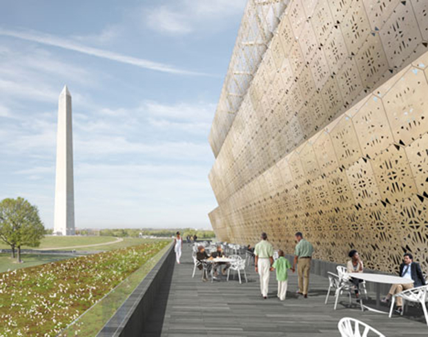 David Adjaye's renderings for The National Museum of African American History and Culture, Washington DC