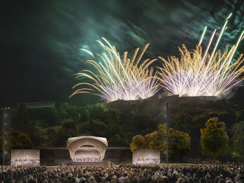 BIG, Adjaye and Sou Fujimoto vie for a Scottish bandstand