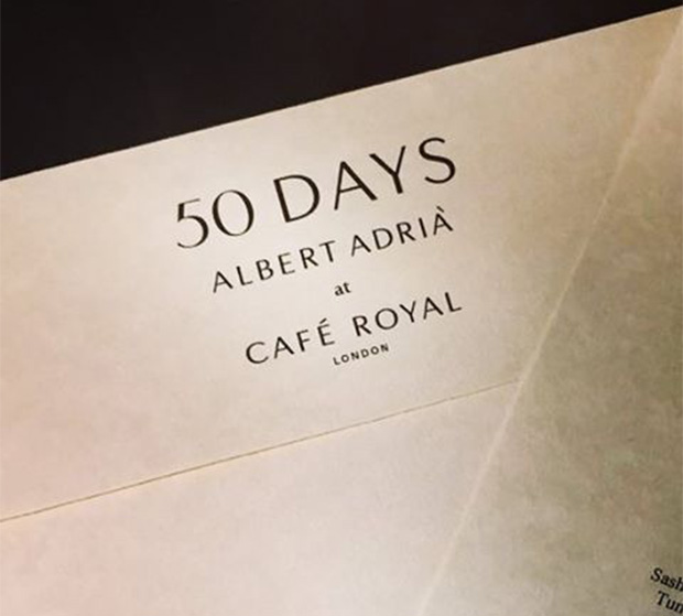 the menu card for days by albert adri