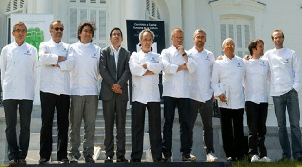 Ferran Adria and prestigious friends and comrades