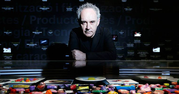 Ferran Adrià at the elBulli Somerset House exhibition in London, 2013