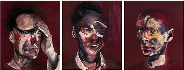 "After ""Three Studies for Portrait of Lucian Freud, 1965"" (2013) by Michel Platnic"