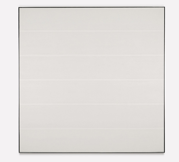 Untitled #7 (1991) by Agnes Martin is up for sale at Sotheby's contemporary art evening auction, 11 November, New York