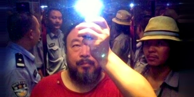 Ai Weiwei in the lift while being taken into custody by the police, Sichuan, China, 2009; photo courtesy the artist