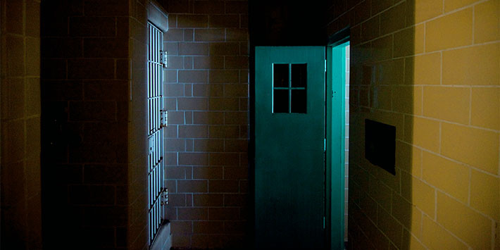 Entrance to the psychiatric observation rooms, Alcatraz Hospital; photo: Jan Stürmann. Courtesy of FOR-SITE Foundation