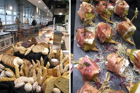 Bread and parcels of wheatgrass and parma ham from Ferran Adrià's <em>The Family Meal</em>