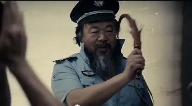 Still from Ai Weiwei's Dumbass video