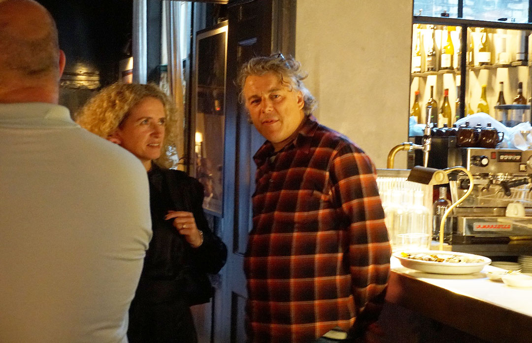 Alan Davies at The Sportsman launch at Noble Rot photo Bonnie Beadle