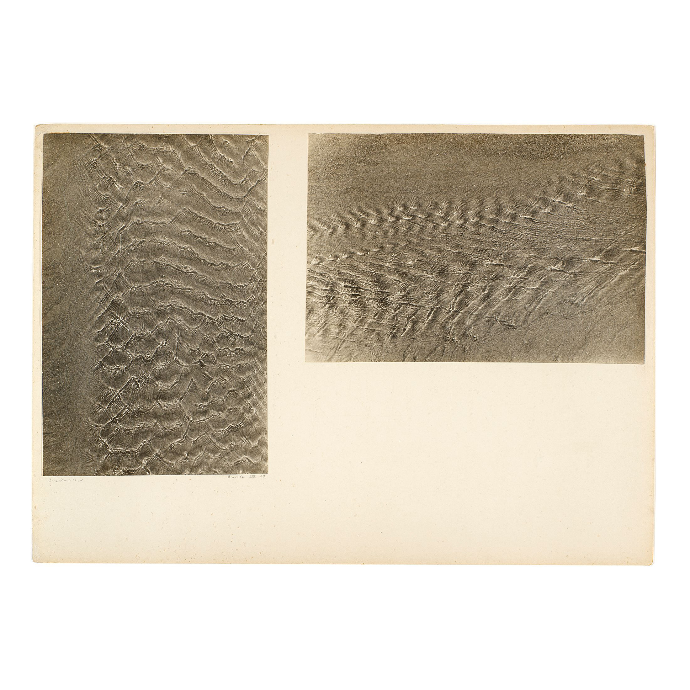 Josef Albers, Brackwasser Biarritz VIII '29, 1929. Gelatin silver prints mounted on cardboard. © 2020 The Josef and Anni Albers Foundation/ARS, NY/DACS