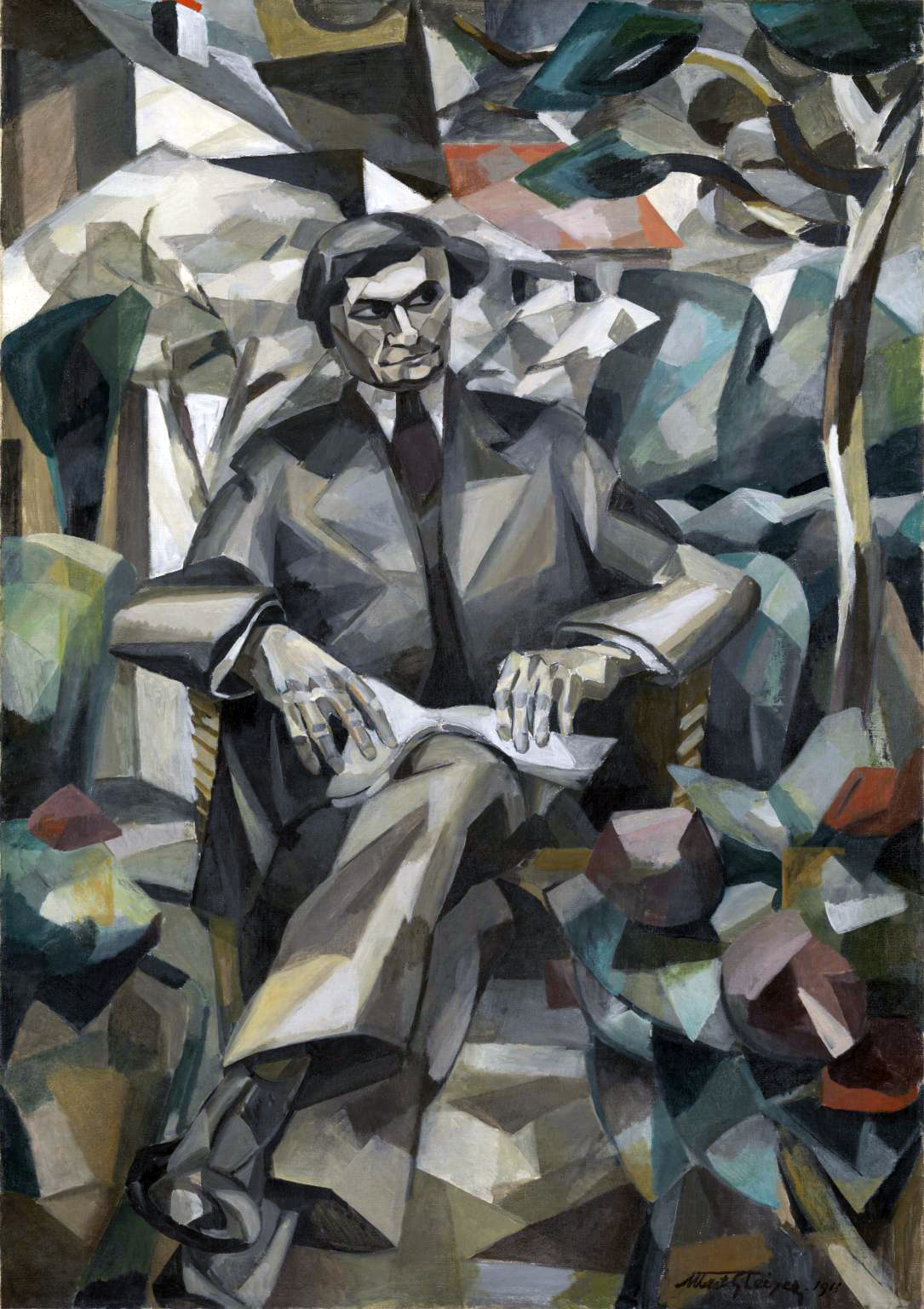 Portrait of Jacques Nayral (1911) by Albert Gleizes