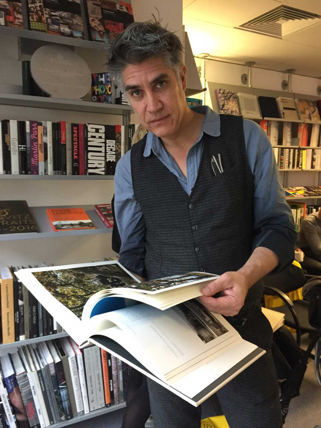 Alejandro Aravena  of Elemental in the Phaidon office