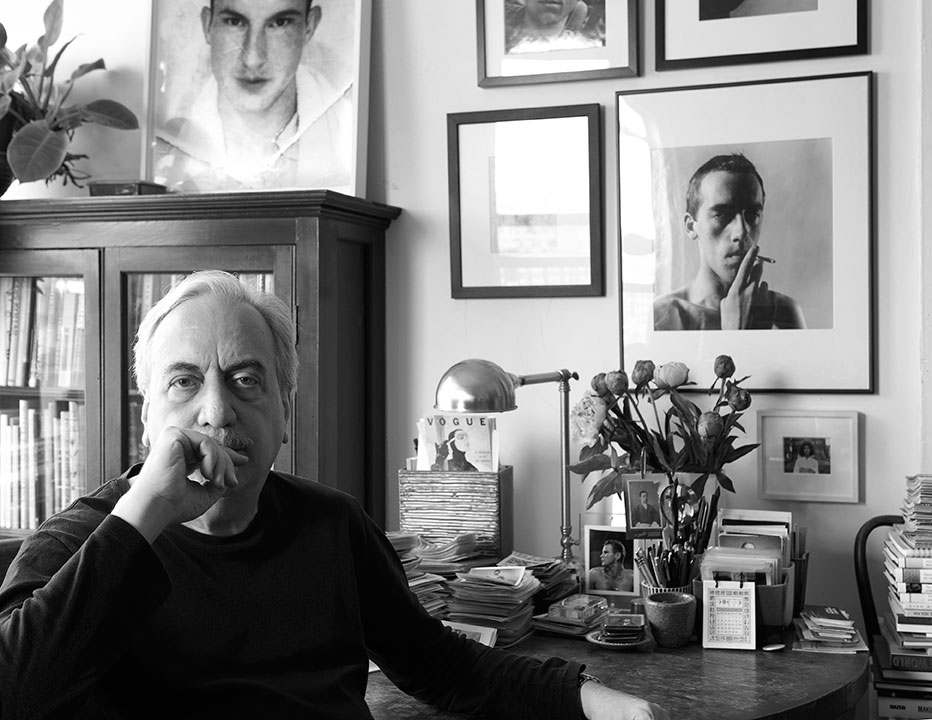 Vince Aletti photographed  in his apartment by Jason Schmidt (@jasonschmidtstudio; jasonschmidtartists.com)